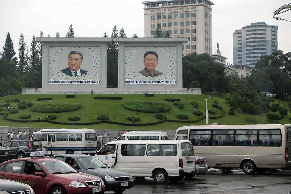 北朝鮮の街中
