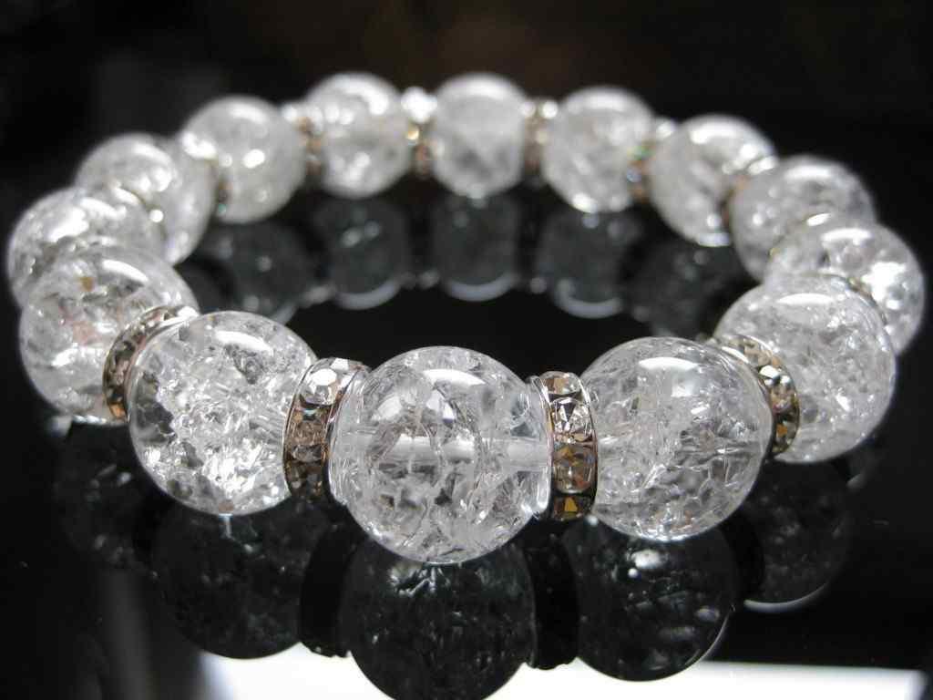 天然石 水晶 高品質 クォーツ 数珠 天然石 クリスタル パワーストーン