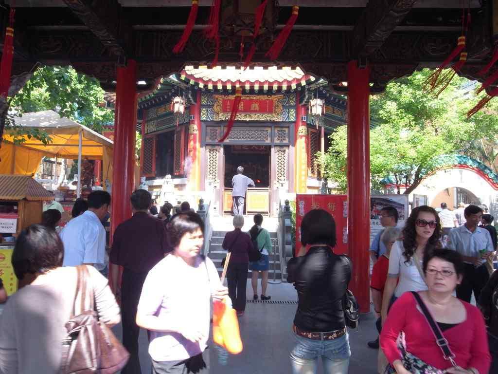 香港の占い街の廟
